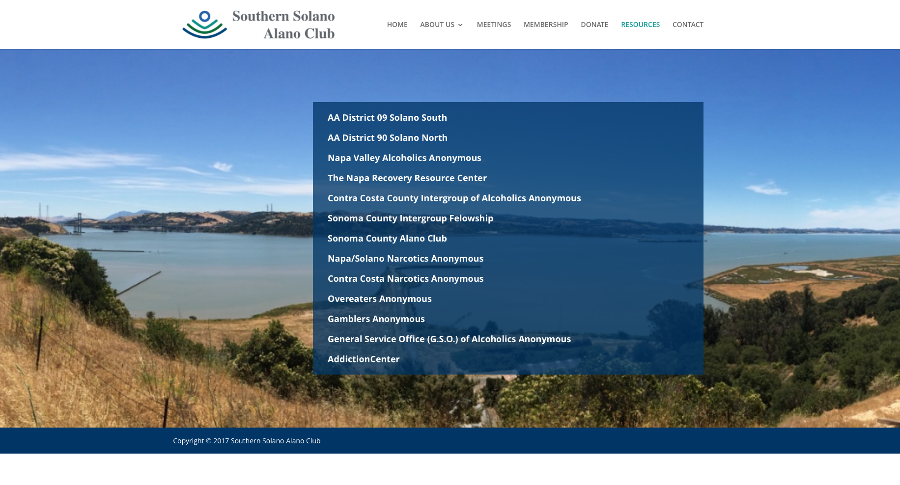 Southern Solano Alano Club Website