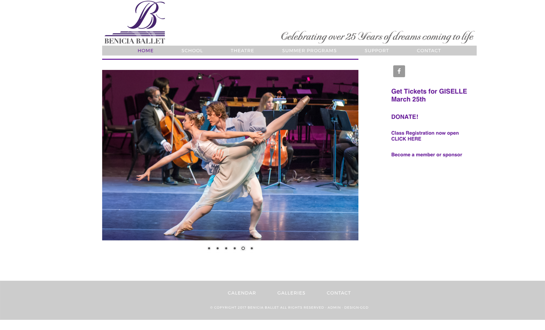Benicia Ballet Website