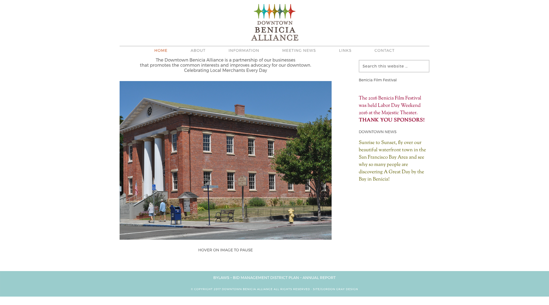 Downtown Benicia Alliance Website