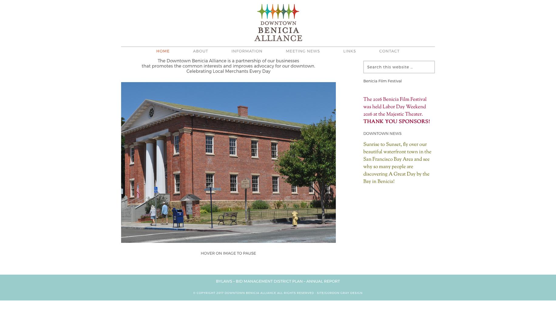 Downtown Benicia Alliance Website